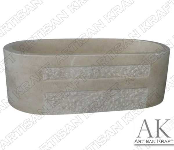 Marble Beige Double Ended Oval Bathtub