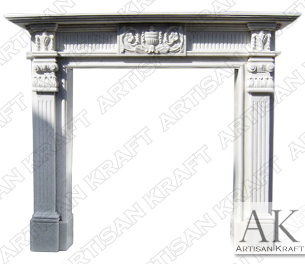 GEORGIAN-COLONIAL-FIREPLACE-MANTEL