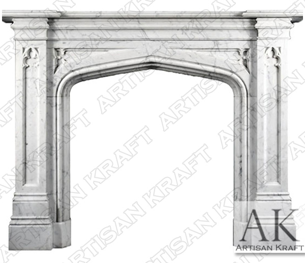 Gothic Tudor Fireplace Mantel Surround
