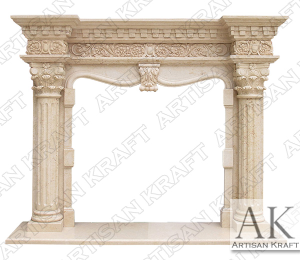 Grand Richmond Column Marble Mantel