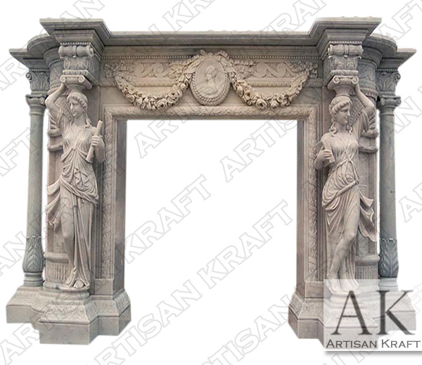 Greco Roman Marble Fireplace Mantel