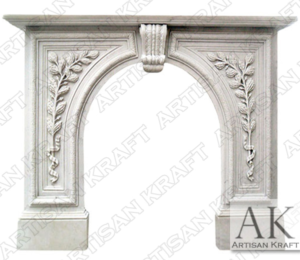 Greenwich Marble Fireplace Mantel
