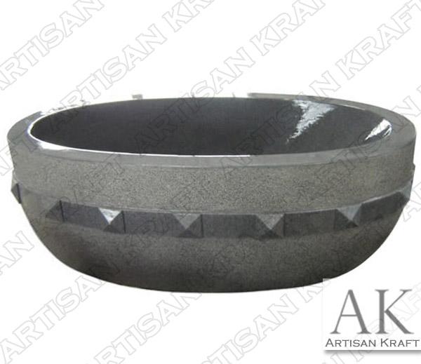 Grey Granite Freestanding Bathtub