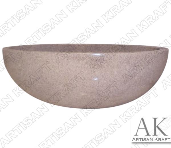 Grey Granite Oval Master Bathtub