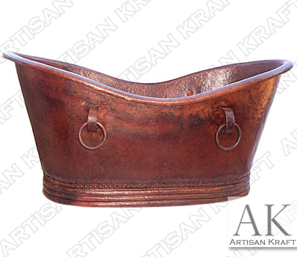 Hammered-Copper-Bath-Tub