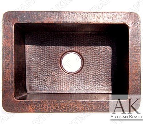 Hammered-Copper-Kitchen-Sink