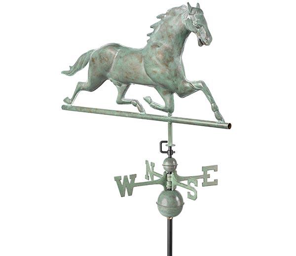 Horse-Weathervane-Blue-Verde-Copper