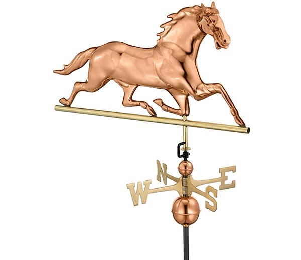 Horse-Weathervane-Polished-Copper