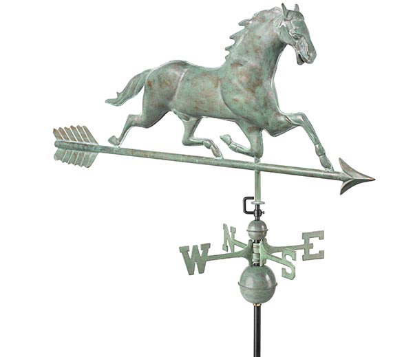Horse-Weathervane-with-Arrow-Blue-Verde-Copper