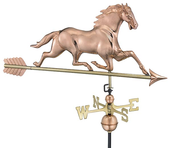 Horse-Weathervane-with-Arrow-Polished-Copper