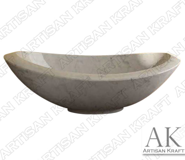 Italian Carrera Marble Double Slipper Bathtub