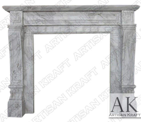 Italian Regal Marble Volakes Fireplace Mantel