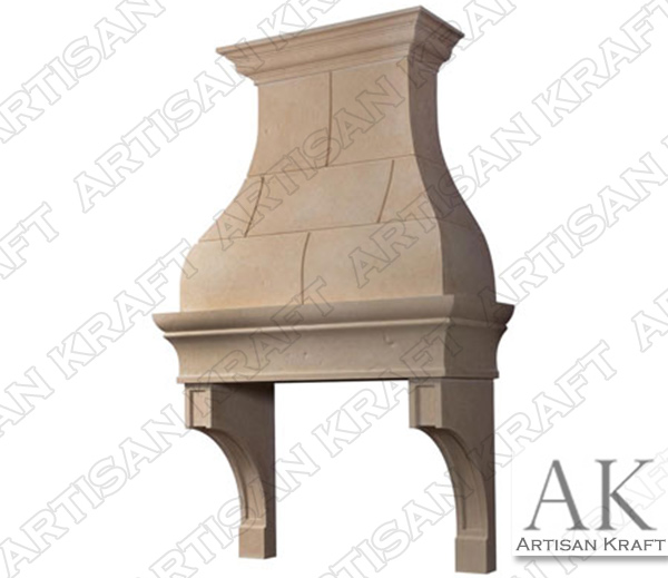 Jamestown Range Hood Cast Stone