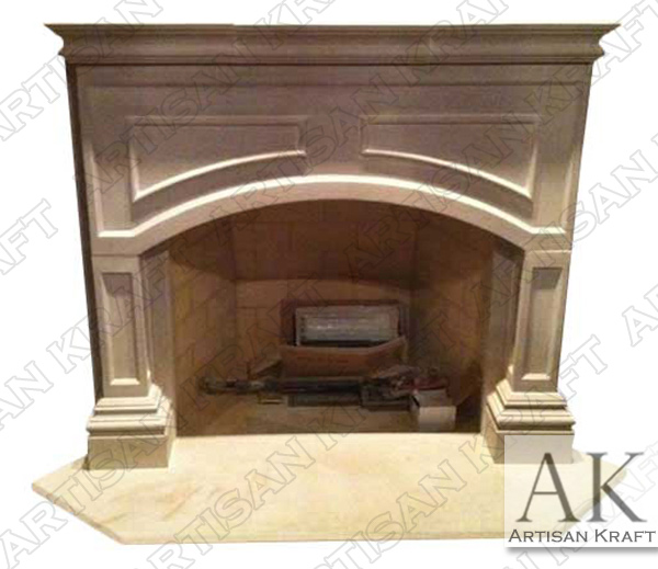 Lancaster Cast Stone Fireplace Mantel
