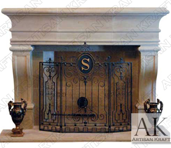 Leon Cast Stone Surround Fireplace