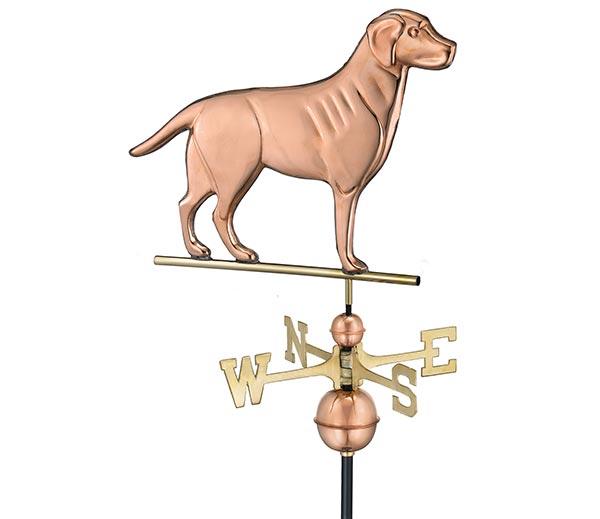 Labrador-Retriever-Weathervane-Polished-Copper