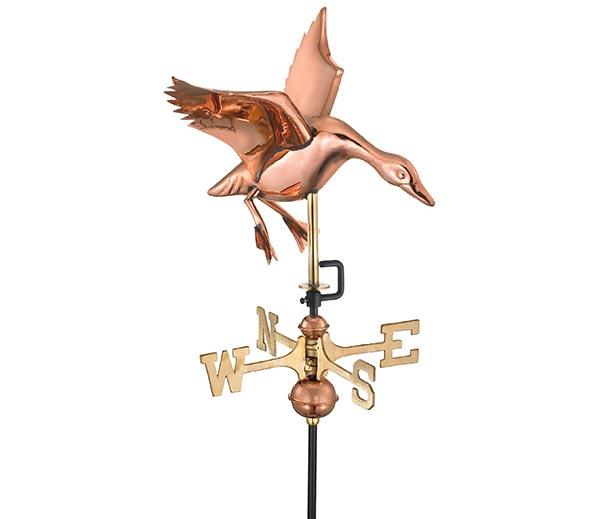 Landing-Duck-Garden-Weathervane-Polished-Copper--w-Garden-Pole