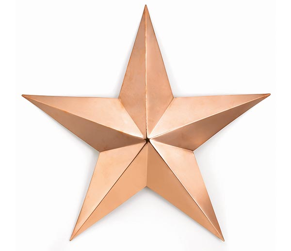 Large-Copper-Star-Polished-Copper