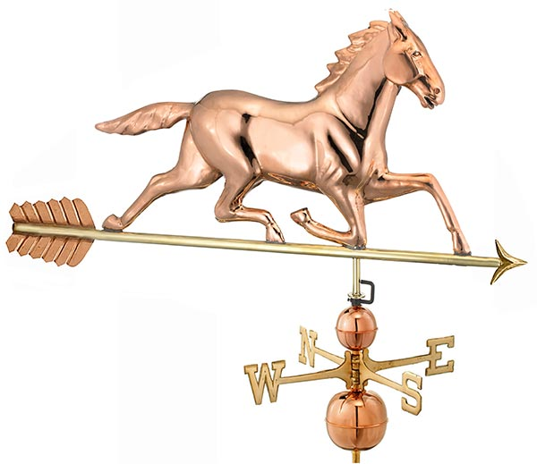 Large-Horse-Estate-Weathervane-Polished-Copper