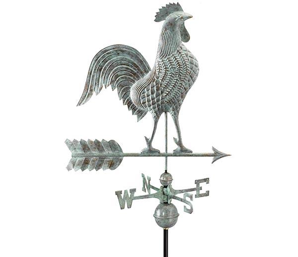 Large-Rooster-Weathervane-Blue-Verde-Copper
