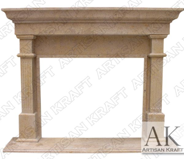 Bradford Antique Beige Marble Mantel