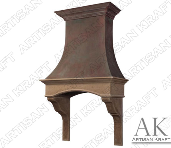 London Range Hood Cast Stone