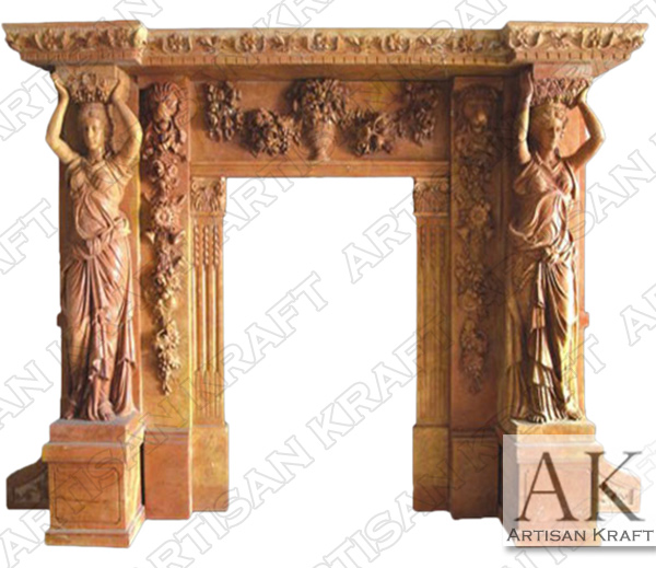 Marble Statue Fireplace Mantel