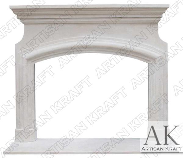 Marseilles Limestone Fireplace Mantel