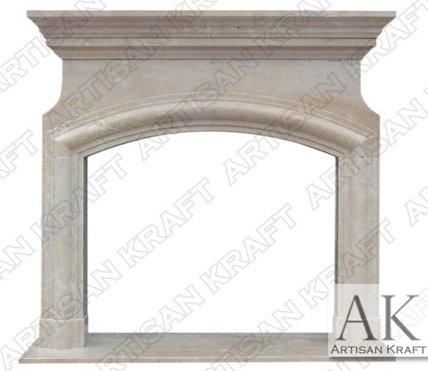 Marseilles Travertine Arched Mantel