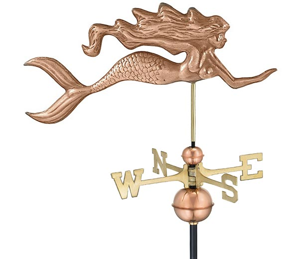 Mermaid-Weathervane-Polished-Copper