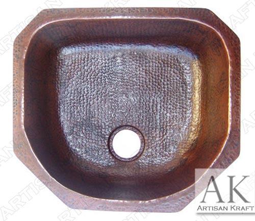 Modern-Weathered-Hammered-Copper-Kitchen-Sink
