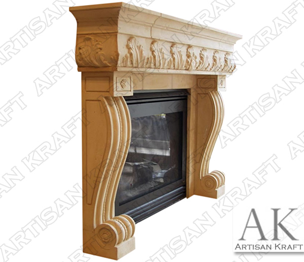 Naples Marble Fireplace Mantel