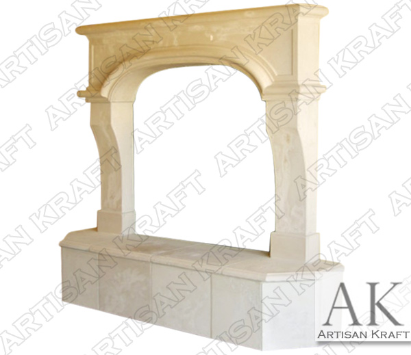 Nevada Cast Stone Fireplace Mantel