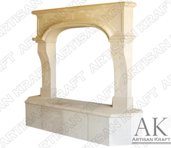 Nevada Cast Stone Fireplace Mantel