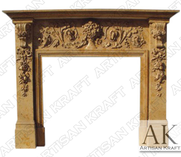 New Jersey Marble Mantel Fireplace
