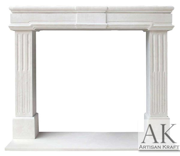Newport Limestone Fireplace Mantel