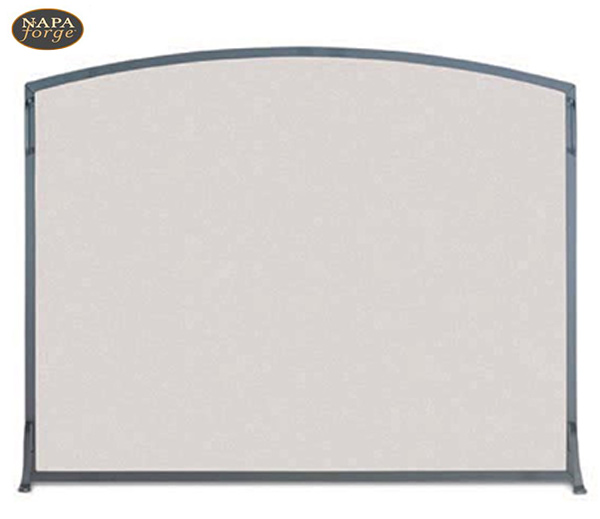 Napa-Forge-Classic-Arch-Single-Panel-Fireplace-Screen