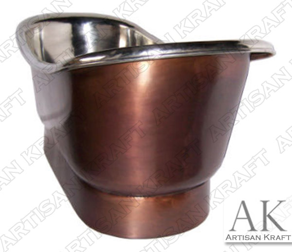 Nickel-Plated-Smooth-Copper-Bath-Tub