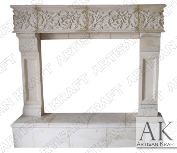 Phoenix Fireplace Cast Stone Mantel