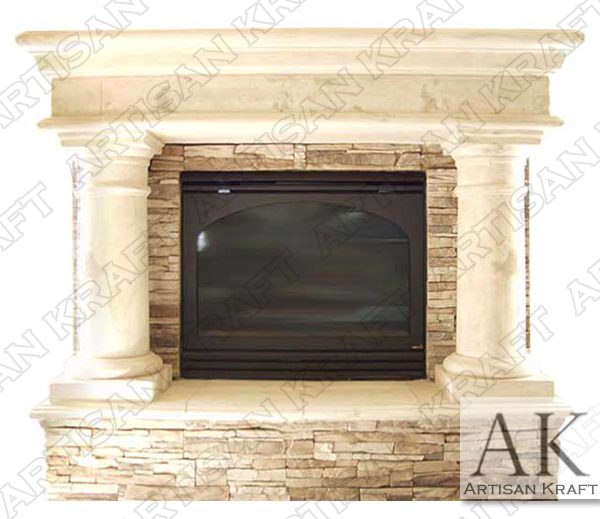 Precast Column Fireplace Mantel