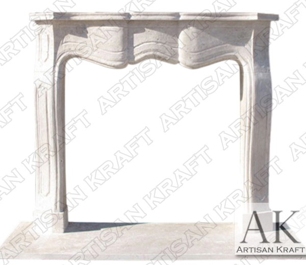Providence Travertine Fireplace Mantel