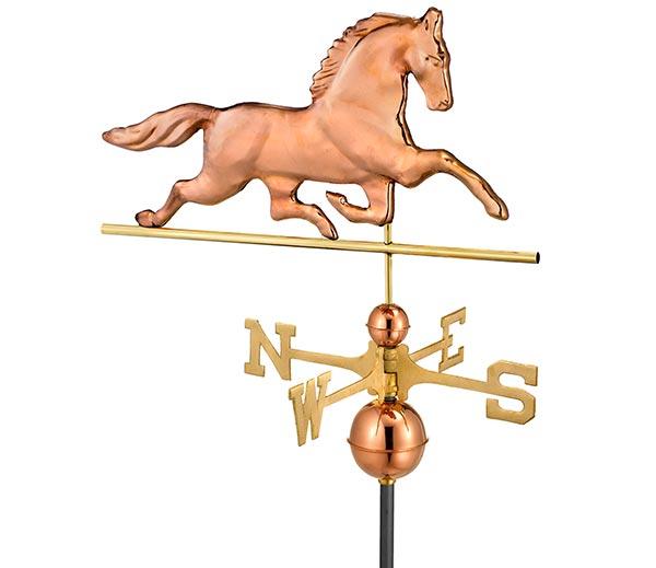 Patchen-Horse-Weathervane-Polished-Copper