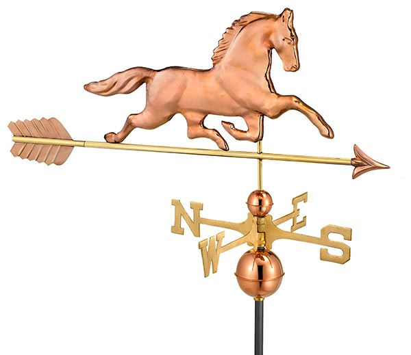 Patchen-Horse-Weathervane-with-Arrow-Polished-Copper