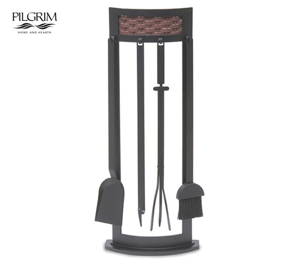 Pilgrim-Basket-Weave-Fireplace-Tool-Set
