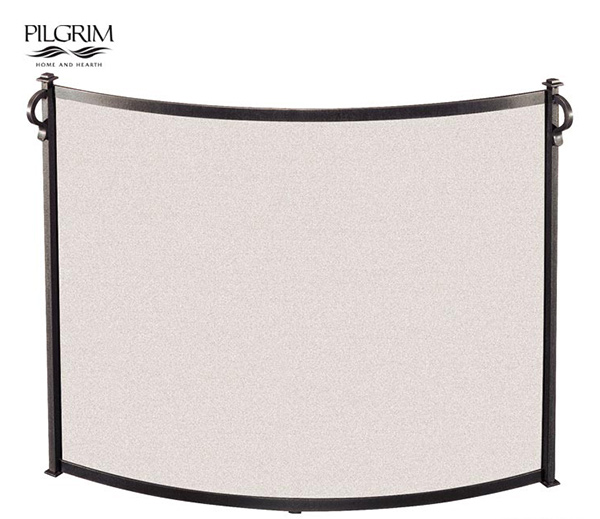 Pilgrim-Bowed-Craftsman-Single-Panel-Fireplace-Screen