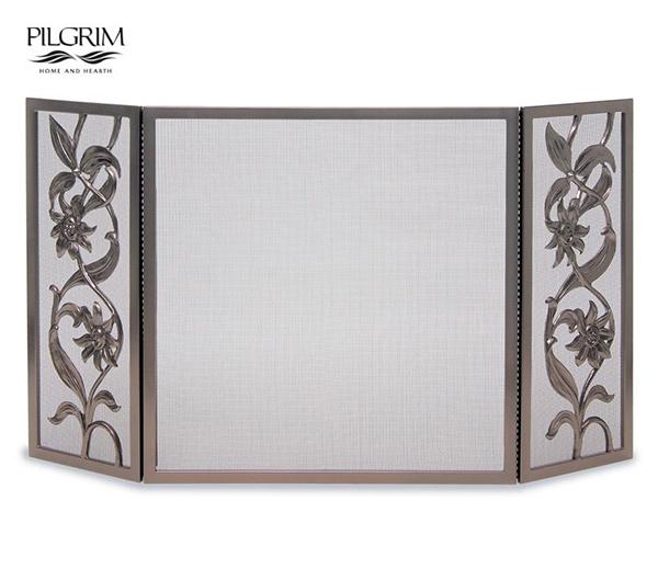 Pilgrim-Cast-Sunflower-Tri-Panel-Fireplace-Screen