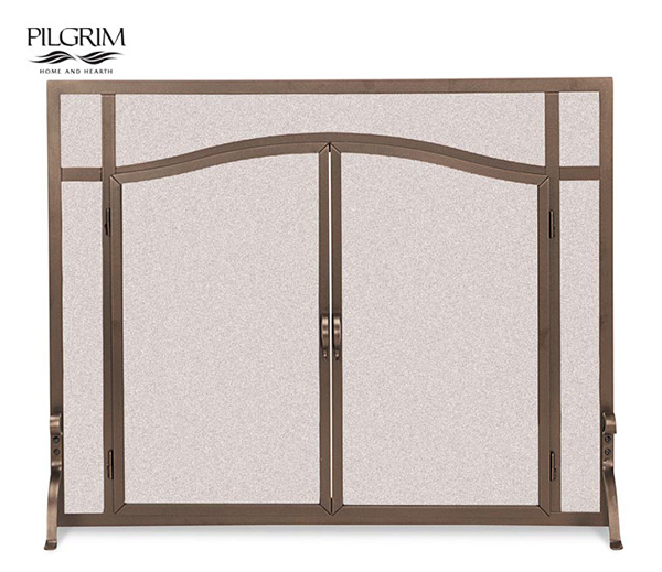Pilgrim-Forged-Iron-Arched-Screen-Door