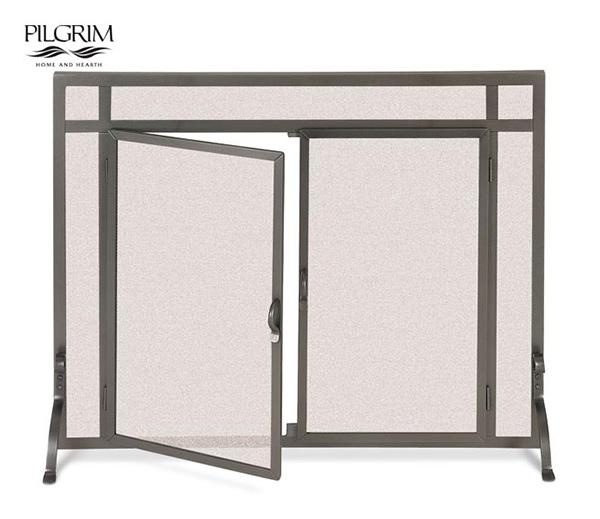Pilgrim-Forged-Iron-Straight-Door-Fireplace-Screen