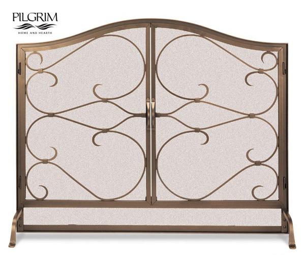 Pilgrim-Iron-Gate-Fireplace-Arched-Screen-Door