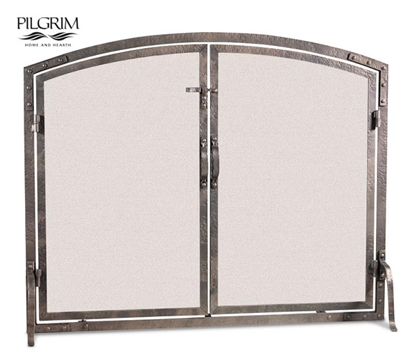 Pilgrim-Old-World-Arched-Door-Fireplace-Screen